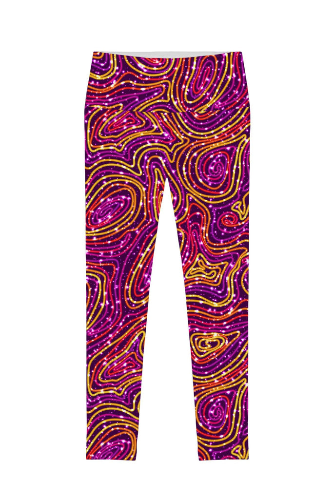 Vibrant Galaxy Lucy Printed Performance Leggings - Women - Pineapple Clothing