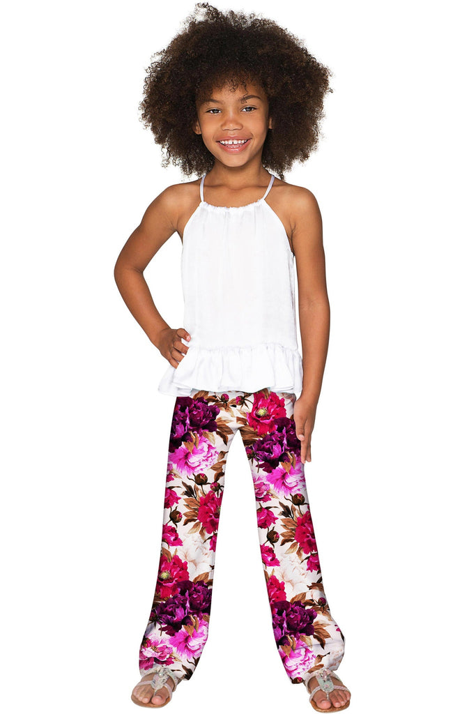 Vintage Charm Amelia Floral Chic Unique Palazzo Pant - Girls - Pineapple Clothing