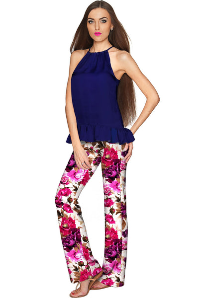 Vintage Charm Amelia Floral Pull-On Palazzo Pant - Women
