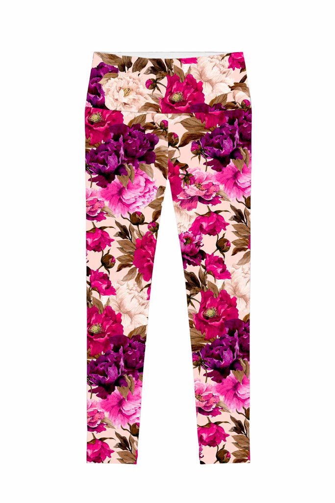 Vintage Charm Lucy Floral Performance Leggings - Women - Pineapple Clothing