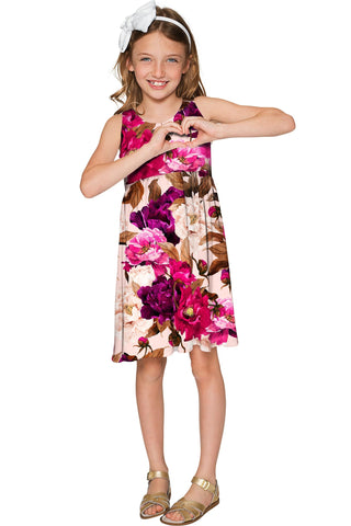Vintage Charm Sanibel Empire Cut Printed Floral Dress - Girls - Pineapple Clothing