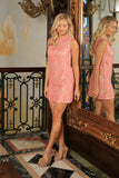 Dusty Pink Lace Sleeveless Spring Summer Party Shift Mommy & Me Dress - Pineapple Clothing