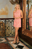 Dusty Pink Lace Party Trendy Chic Day Evening Shift Mommy and Me Dress - Pineapple Clothing