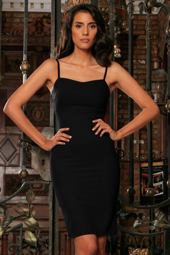 Black Stretchy Sweetheart Bodycon Fancy Cocktail Party Dress - Women - Pineapple Clothing