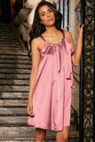 Dusty Pink Swing Spring Summer Halter Chiffon Dress - Women - Pineapple Clothing