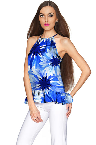 Wild Bloom Audrey Halter Stretchy Top - Women - Pineapple Clothing