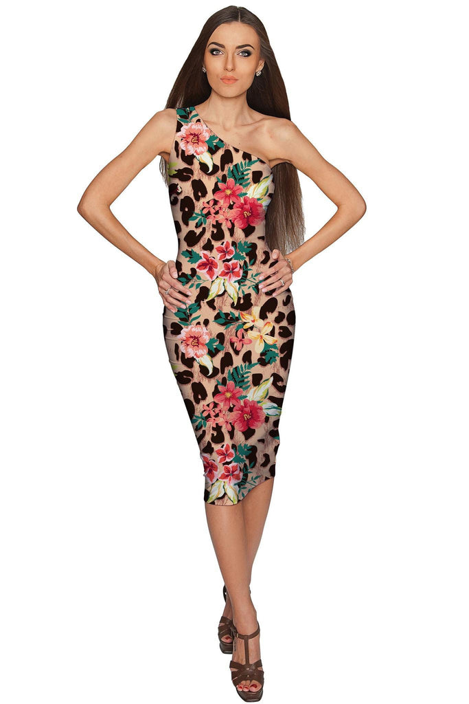 Wild & Free Layla Leopard Print Stretch Party Dress - Women - Pineapple Clothing