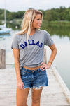 Dallas Tee- Grey & Blue