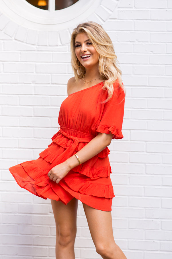 On Trend Dress- Living Coral