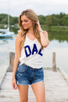 Dal Tank- Off White & Blue