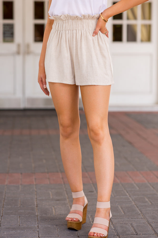 Take Me To Tulum Shorts- Khaki