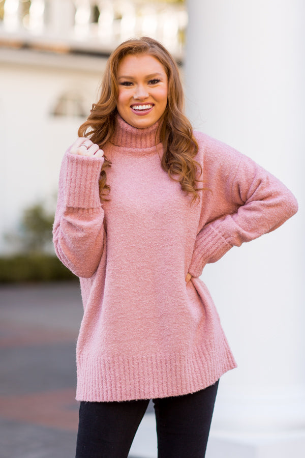 Walk In The Park Sweater - Mauve