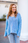 Pop The Confetti Sweater - Blue