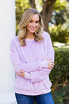 Cozy As Ever Pullover- Lavender