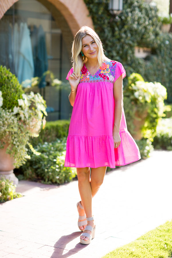 The Hallie Dress - Pink