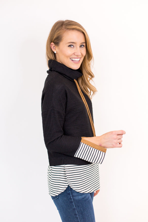Along The Lines Sweater - Black