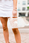 Small Sun Jelly Basket Bag- Cream