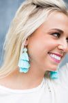 Totally Tasseled Earrings - Mint