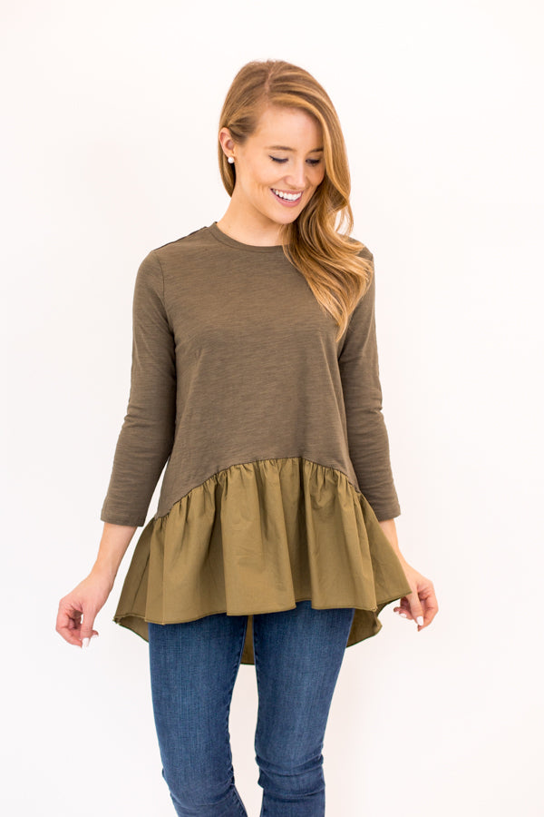 Covering The Basics Top - Olive