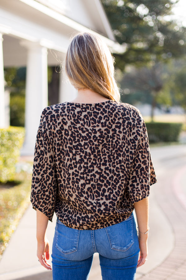 Take A Wild Guess Top- Leopard