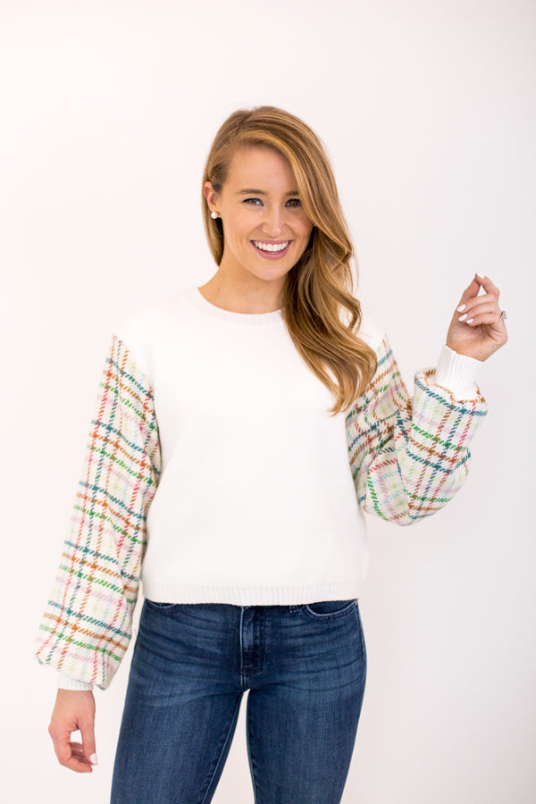 Uptown Girl Sweater - White