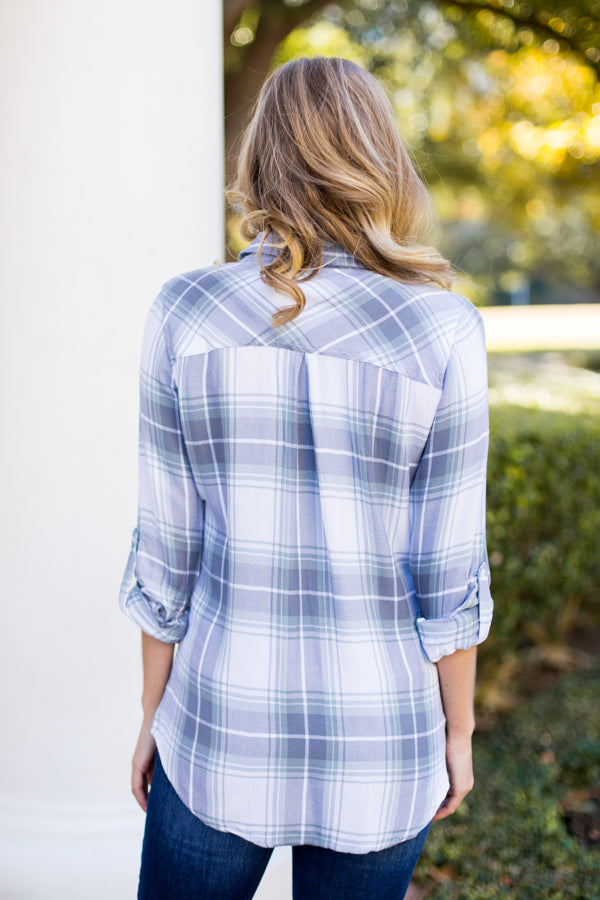 Ice Ice Baby Flannel- Grey