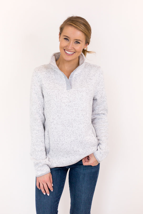 Gone Soft Pullover - Heather Grey