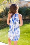 High Tide Dye Dress- Blue