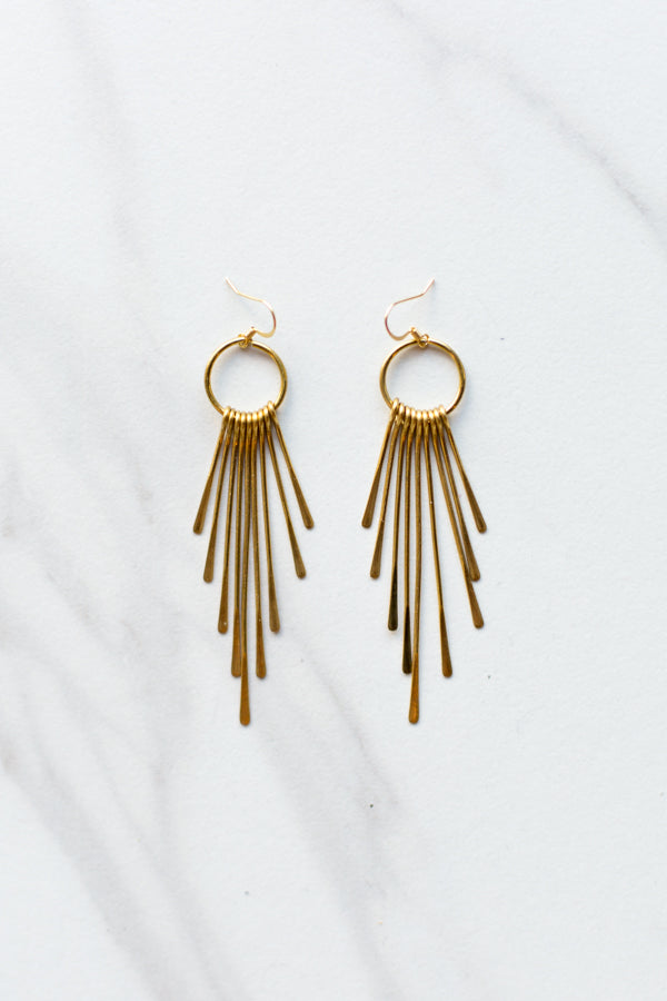 Vintage Gold Drip Earrings