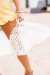 Large Sun Jelly Basket Bag- Cream