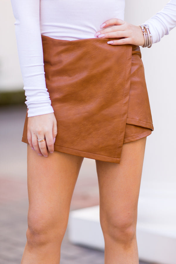 Flag On The Field Skort - Camel
