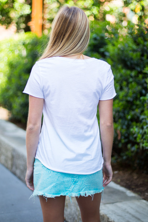Essential White Pocket Tee