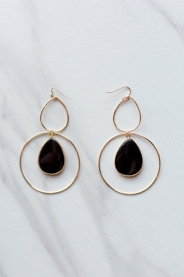 Hannah Earrings- Black