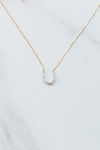 Dainty Horseshoe Necklace- Gold