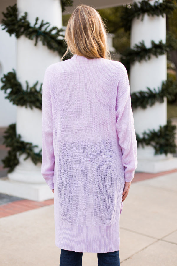 Winter Lilac Cardigan- Lavender