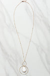 Hannah Necklace- White Marble