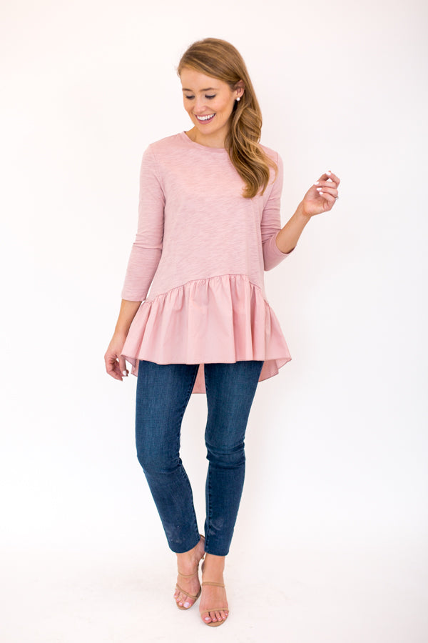 Covering The Basics Top - Dusty Pink