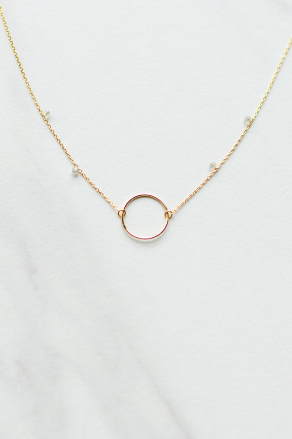 Dainty Gemma Necklace- Clear