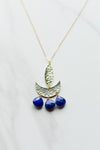Rio Trio Necklace- Blue