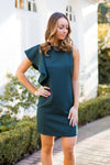 One Ruffle At A Time Dress- Green