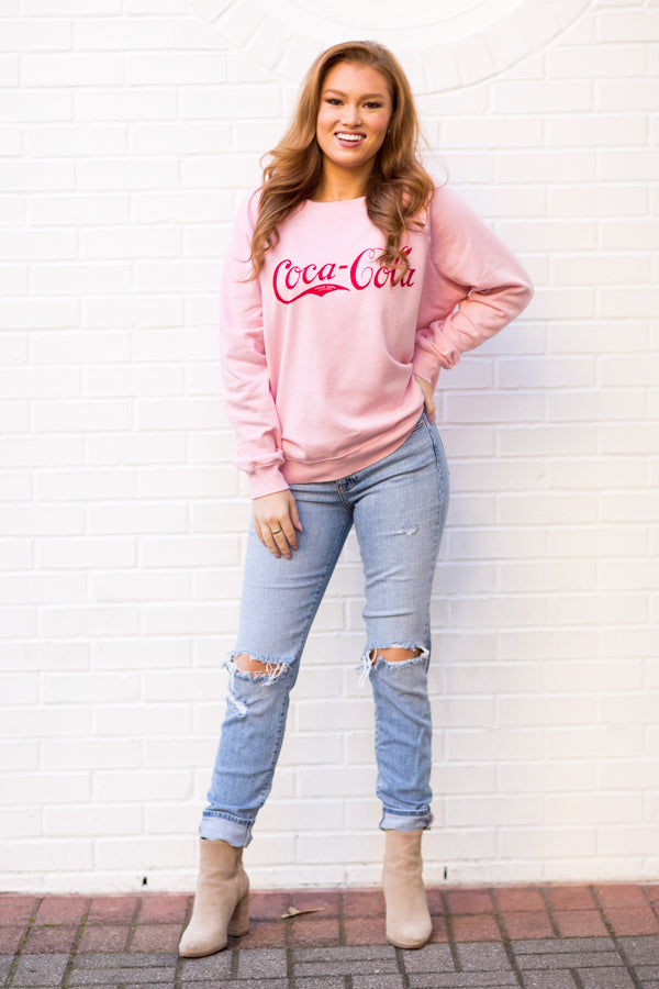 Wildfox Vintage Coca-Cola Sommers Sweater - Carnation