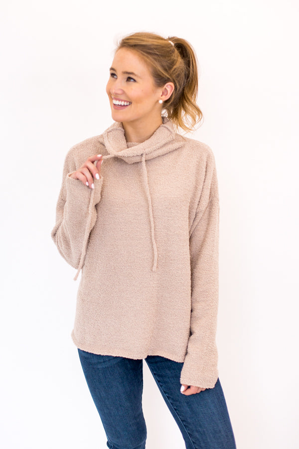 All Snowed In Sweater - Taupe