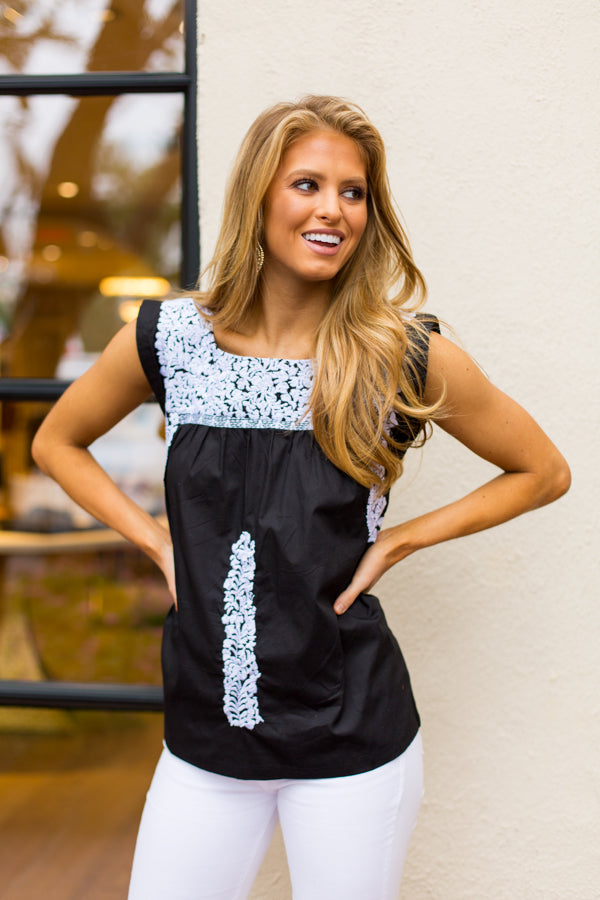 The Laura Top- Black