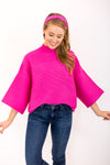 Chic As Ever Sweater - Pink
