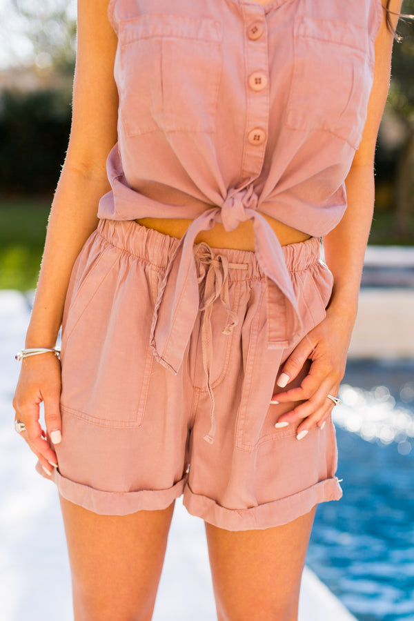 Safari Sunsets Shorts- Praline