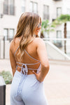 Days In Naples Jumpsuit- Periwinkle