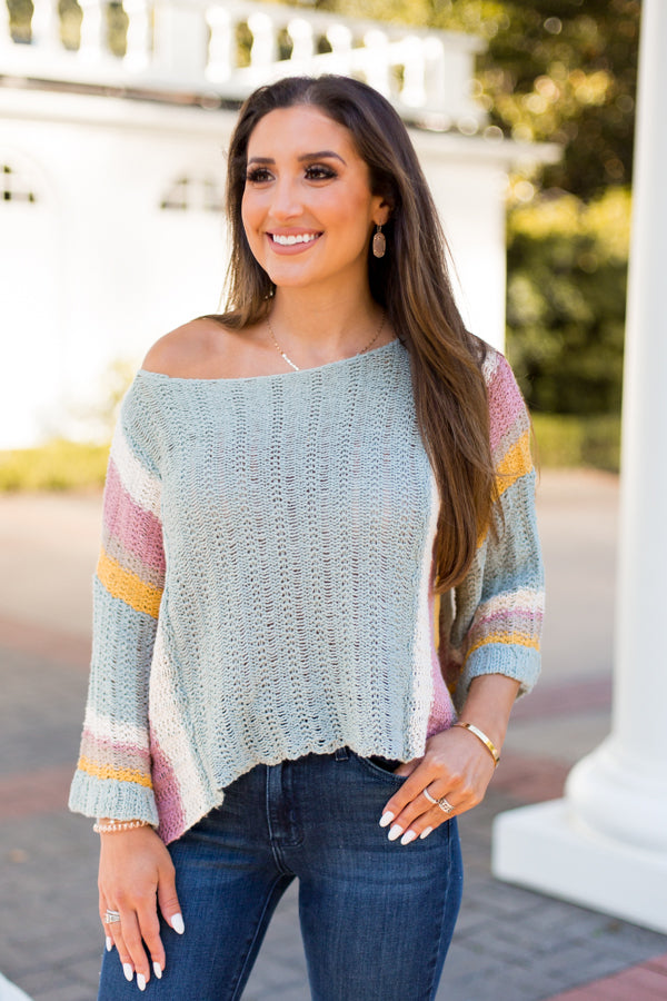 Casual Saturday Sweater - Sage