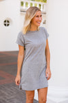 Z Supply T-Shirt Dress- Heather Grey