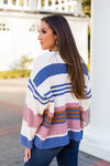 Chenille The Deal Sweater - Ivory Stripe