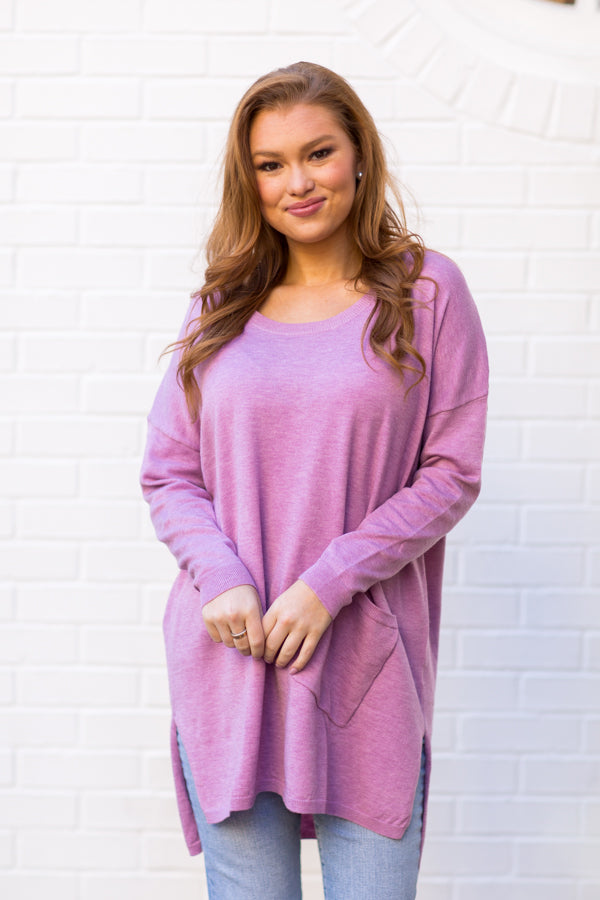Back To Basics Sweater - Lavender